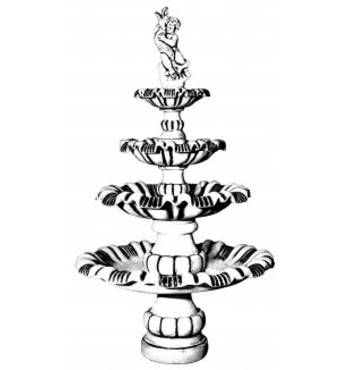 Четырехъярусный фонтан Арт.№753