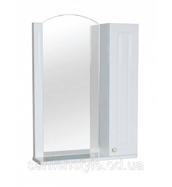 Зеркало АКВА РОДОС Классик 60 (R) с полочкой и шкафчиком