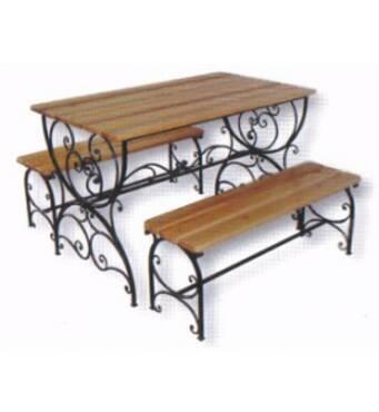 Кованые столы, стулья и скамьи