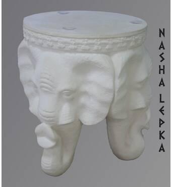 Декоративний стіл із гіпсу (слон) Стл/001