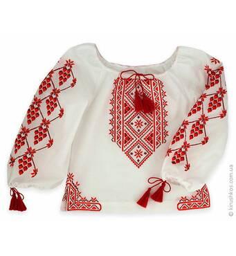 Дитяча вишиваночка з бомбезной червоною вишивкою