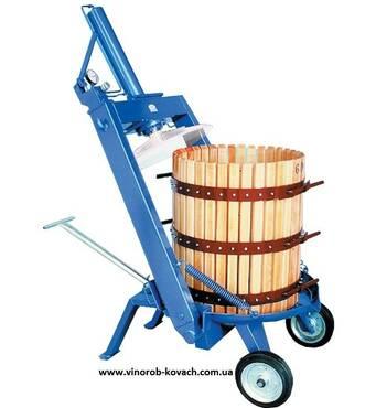 Прес для винограду - Tico-40 (69л) з гідроприводом