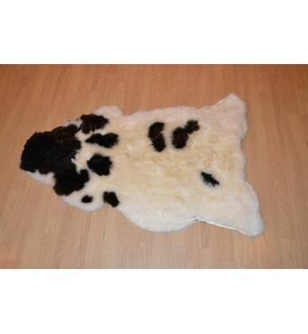Овечья шкура - овечьи шкуры - шкура овцы (черно-белая)