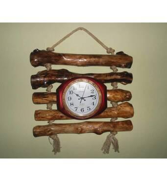 Деревянные часы ручной работы. Купить часы
