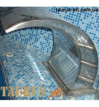 Водопад Classic 400 мм (массажер) из нержавеющей стали в бассейн