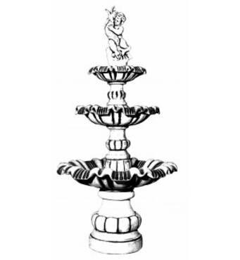 Трехъярусный фонтан Арт.№177