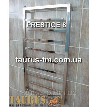 Полотенцесушитель в стильную ванную комнату Prestige 8/ 950х450. Плоские тупиковые перекладины 20х10