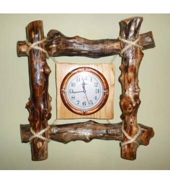 Настенные деревянные часы ручная работа. Купить часы