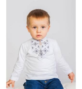 Дитяча вишита футболка з довгим рукавом