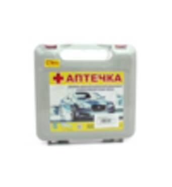 Аптечка CarLife АМА-1 серая с ручкой