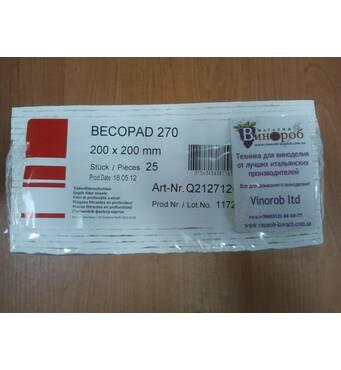 Фільтр-картон Becopad 270 (тонка фільтрація)