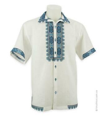 Рубашка вышиванка с коротким рукавом