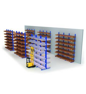 Консольные стеллажи для хранение длинномерных грузов Тип KAF/тип KAM