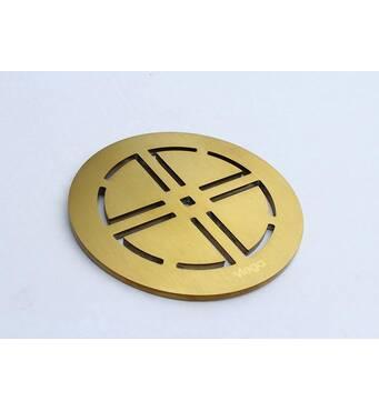 Декоративный элемент с напылением под цвет золота