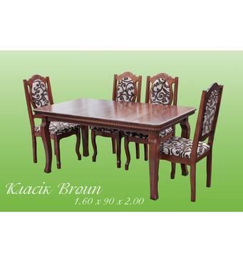 """Меблі для кухні: стіл + стільці """"Класик Broun"""""""