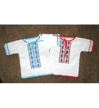 рубашка вышитая для  девочки на крещение