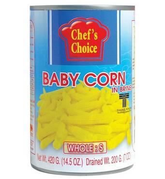 Бебі кукурудза у розсолі (ціла, розмір S) 420 гр