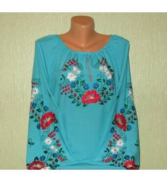 блузка жіноча вишита гладдю ручної роботи