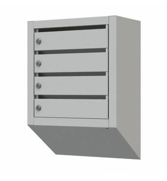 Ящик почтовый многосекционный Щелевой на 4 квартиры
