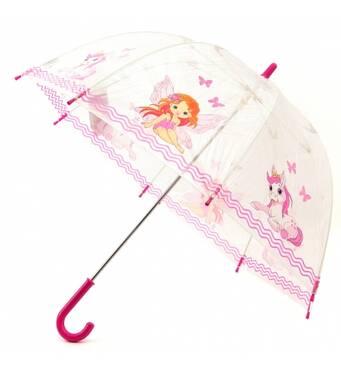 Детский прозрачный зонт Zest Девочка и пони ( механика ) арт. 51510-16