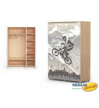 Шкаф 3-х дверный BR-М-03-1 Mega (Мега)