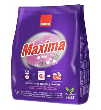Стиральный порошок Sano Maxima Musk 35 стирок 1,25 кг