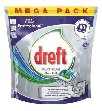 Сучасний засіб для посудомийних машин Dreft Plаtinum All in 1 90шт