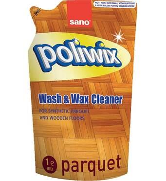 Засіб для миття підлоги з паркетом або ламінатом Sano Poliwix Parquet Wash & Wax cleaner 1 л.
