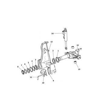 Запчасти передка и оборотника плуга Unia Ibis L, M4X