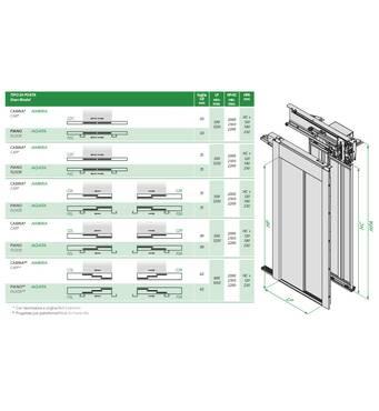 Автоматические двери для лифтов Agata, Ambra и Zaffiro (SELE)