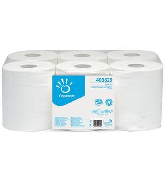 Бумажные полотенца ролевые (рулонные) Avial Бумажные полотенца рулонные без перфорации для автоматического диспенсера. IMB-403829