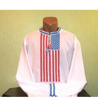 Американская вышиванка ручной работы