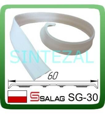 Гибкий  самоклеющийся уголок SALAG, белый. 30х30 мм.