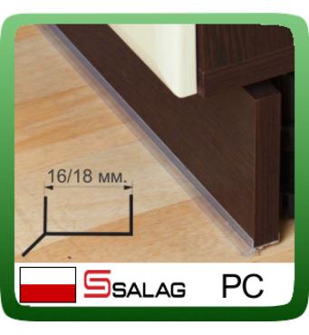 Цокольний ущільнювач для кухонних меблів, прозорий, L - 3,0 м.