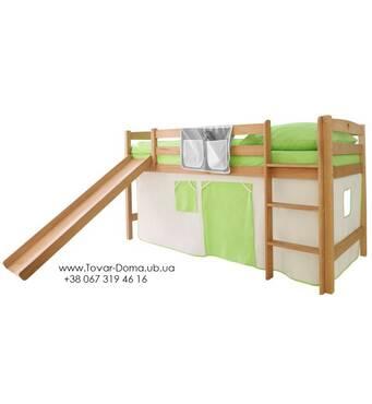 Спортивная кровать с горкой (сосна)