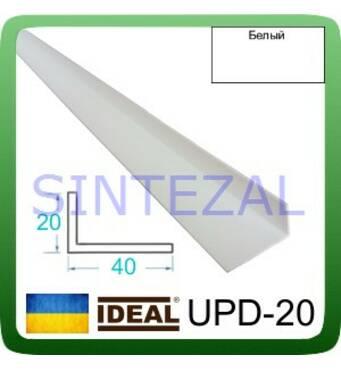 Декоративный пластиковый уголок IDEAL, L-2,7 м. IDEAL, 20 Х 40, Украина, Белый