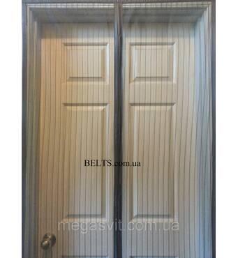 Москітна сітка на двері Магнетик Меш з магнітами, штора на двері Magnetic Mesh