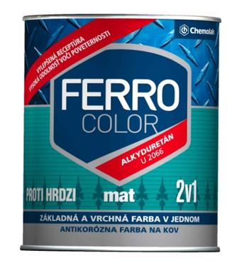 """Краска алкидно-уретановая  """"Ferro Color"""" матовая серая 0,75л."""