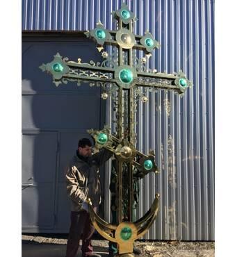 Хрест накупольний з кольоровим напиленням, купити