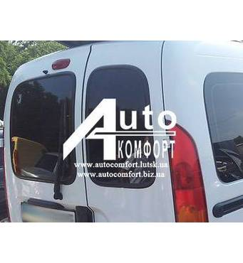 Заднє скло (сорочечка права) без э. о. без шовкографії під ущільнювач на Renault Kangoo 96-08 (Рено Кангу)