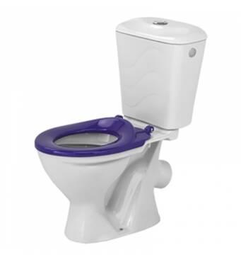 Унітаз Бембі з фіолетовим сидінням