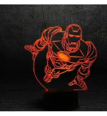 """3D светильник """"Железный человек 2"""""""