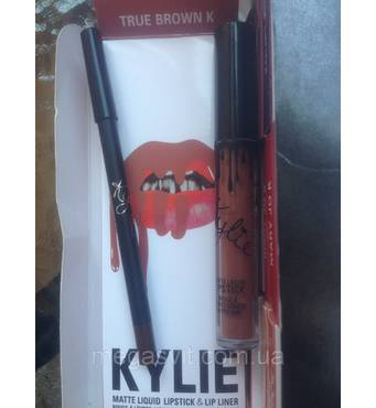 Помада и карандаш Kylie (TRUE BROWN K)