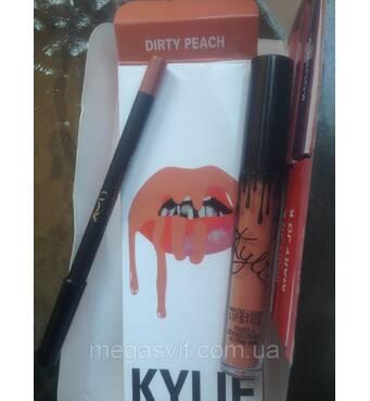 Помада и карандаш Kylie (DIRTY PEACH)
