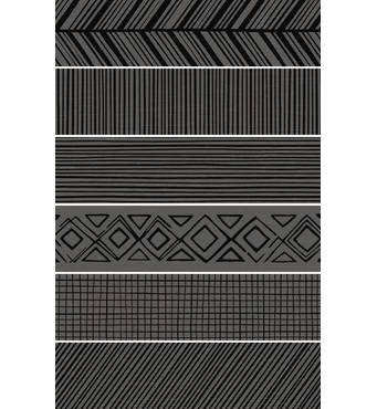 Плитка PICASSO MIX GRAPHITE, ПОЛ, 146х593х9