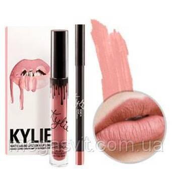 Матовая помада + карандаш для губ Kylie Matte Liquid Lipstick & Lip liner KOKO K