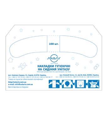 Соляр-Б-100 - Накладки гигиенические (в 1 фальц) в коробке, 100  шт. Солярис Соляр-Б-100