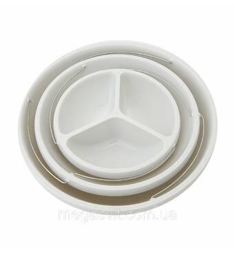 Трехуровневая тарелка (миска, поднос Twist Fold 3 Tiered Bowl) Твист