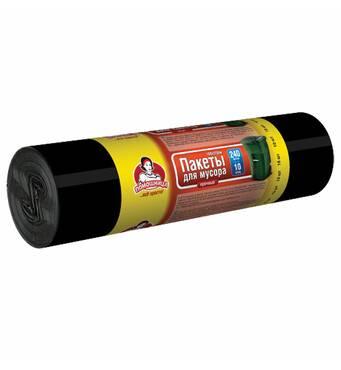 """Пакети для сміття ТМ """"Помічниця"""" 240л 10шт LDPE,  чорні"""
