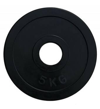 RCP11 - 5 Диск олімпійський обгумований чорний 5кг (51 мм)